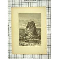 Stampa delle Barche di Fiume delle Scogliere di C1880 Capo Horn America