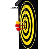 E - Royal Shop® Latest Roll-up Magnetic Dart Board Set 17 Inch Double Sided Hanging Wall Dartboard With 6 Safety Darts Needles (New Look)