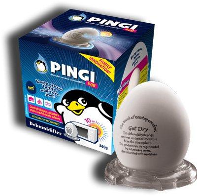 Pingi - Deshumidificador de cerámica, diseño de huevo