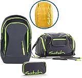 Satch Schulrucksack-Set 4-TLG Sleek Phantom grau