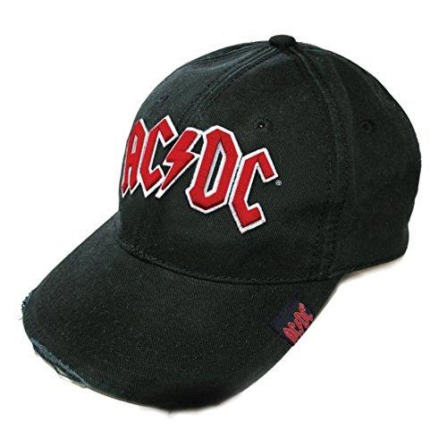 Générique AC DC - Casquette de Baseball - Taille Unique - AC DC Logo (Noir/Rouge)