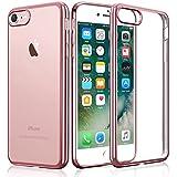 Funda iPhone 7, KKtick Funda Carcasa Gel Transparente [Choque Tecnología Absorción], Suave Flexible piel Resistente a los Arañazos Silicona TPU Bumper Cover Case Protectora para iPhone 7(Rosa)