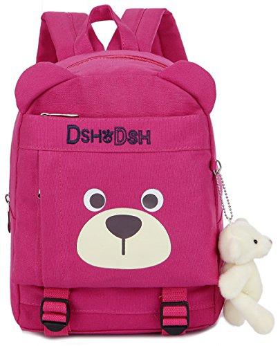 Zaino bambino asilo rosa prescolastico infanzia zaino scuola borsa ragazza ragazzo graziosa(2-7anno)