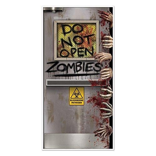 Beistle Zombies Labortür-Abdeckung, 30 durch 5-Zoll, Mehrfarben