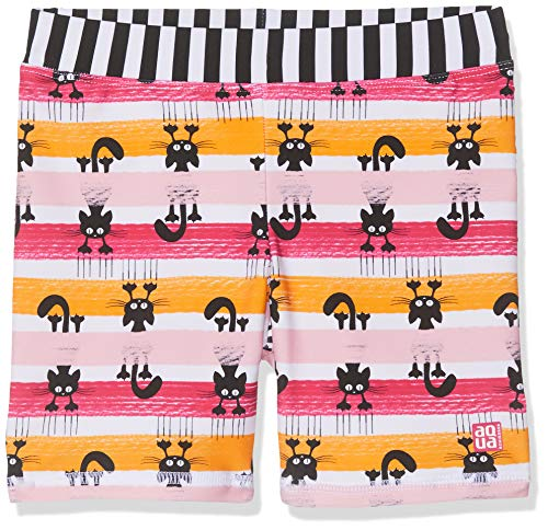 Schiesser Mädchen Water Cat Bade-Shorts Badeshorts, Mehrfarbig (Multicolor 1 904), Herstellergröße: 116 -
