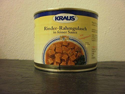 Rinder-Rahmgulasch in feiner Sauce vom Metzger keine Industrieware Konserven