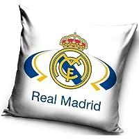 Real Madrid FC decorativo blanco funda de almohada Funda de almohada de 40x 40cm