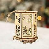 Sansee Christmas Hang DecorationsLED-Licht aus Holz Villa (ColourB)