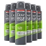 Dove Men+Care Extra Fresh Anti-transpirant Deodorant Spray 6 x 150 ml Voordeelverpakking