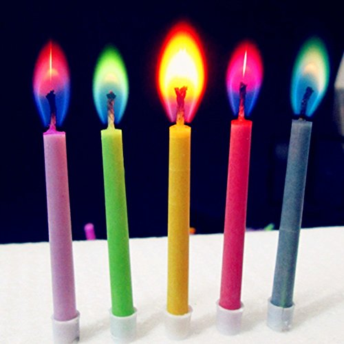 Party-Kerzen mit bunter Flamme, Engels-Kerzen als Geburtstagskuchen-Dekoration