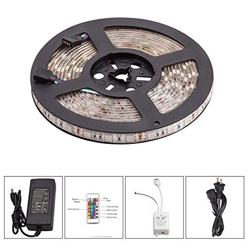 Tian Guan 5050 duradera impermeable LED Franja 5M 150 LED RGB LED tira de cinta Kit de TV luz de fondo de la cinta flexible de luces luces LED dentro de la casa, coche, Escenario, festivales, bricolaje decoración del partido de iluminación