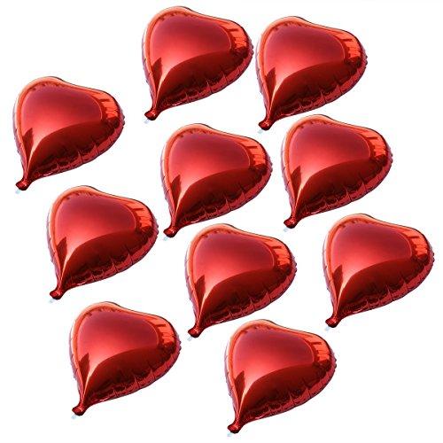 Tankerstreet foil palloncini, palloncini a forma di cuore rosso con corde, palloncini elio per proposte di San Valentino, fidanzamento e matrimonio donne Girls Baby Shower Birthday decorazione confezione da  pezzi - Old Silver Confetti Confetti