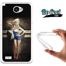 Becool® Fun - Funda Gel Flexible para LG X150 Bello 2 Carcasa TPU fabricada con la mejor Silicona, protege y se adapta a la perfección a tu Smartphone y con nuestro exclusivo diseño Pin up marine