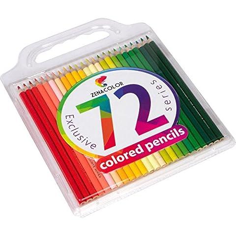 Buntstifte Set (72er Pack) von Zenacolor - Hochwertige Kunst-Buntstifte für