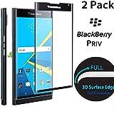 Belker 3d Full Cover Protection d'écran en verre trempé pour Blackberry PRIV–Noir/couverture complète de l'écran protection d'écran en verre trempé avec haute transparence et sensibilité tactile