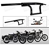 #6: Andride Bike Handle Bar Dual Triple Curved Pipe Handlebar Black for (Royal Enfield All Type)