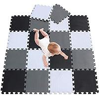 meiqicool Baby Playmats Floor Gyms Jigsaws puzzles jigsaw accessories puzzle play mats floor exercise mats frame,fitness yoga mats play mat crawling mat protective flooring white black Grey 101104112