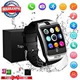 Bluetooth Smart Watch Sport Smartwatch mit Kamera Wasserdicht Uhren Fitness Tracker Armbanduhr Kompatible iOS iPhone Android Samsung LG für Herren Damen Silber