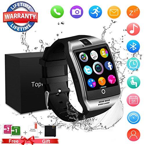 Smart Watch Donna Uomo Orologio Smartwatch iOS Android con Fotocamera Orologio Intelligente Resistente Phone Watch Sport Tracker di Fitness for Huawei Samsung LG Bambini Ragazzi