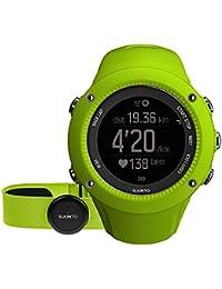 Suunto AMBIT3 RUN HR - Reloj GPS unisex para carrera, 15 h de duración batería, monitor frecuencia cardiaca + cinturón de frecuencia cardiaca, sumergible hasta 50 m, color lima