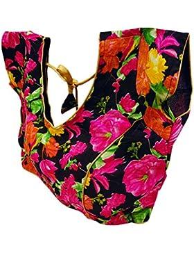 India Moda Dupion Seda Floral Almohada Saree Blusa Mujeres Elegante Nuevo Recolección Top Para Ella