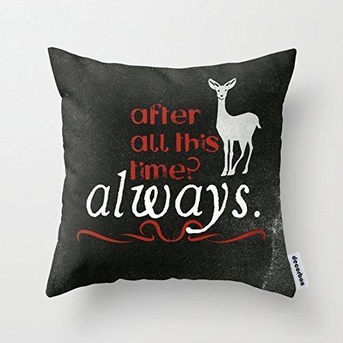 Ruishandianqi Fundas para Almohada Velvet Pillow Cover Case Harry Potter Always 45 X 45 cm 18 X 18 in...