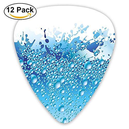 Aquarium Like Water Image With Bubbles Splashes Drops Print Guitar Picks 12/Pack Set -