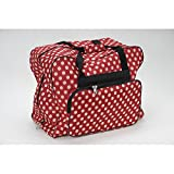 Unbekannt Over-/Coverlock Tasche XL (rot/creme gepunktet)