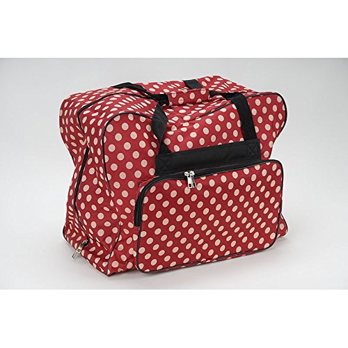 Over-/Coverlock Tasche XL (rot/creme gepunktet)