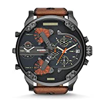Diesel Mr. Daddy for Men - Analog Leather Band Watch - DZ7332