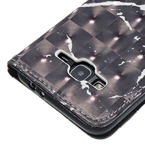 Marmor Stein Grain Texure Pattern PU Ledertasche Cover, Retro Bookstyle Flip Stand Case mit Magnetverschluss & Card Slots & Lanyard für Samsung Galaxy J3 J310 ( Color : F ) D