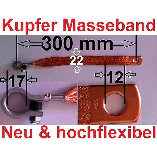 Masseband Kupfer Hochflexibel 300 Mm Kupferband Elektronik