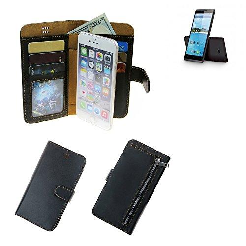 K-S-Trade Für Hisense Sero 5 Schutz Hülle Portemonnaie Case Phone Cover Slim Klapphülle Handytasche Schutzhülle Handyhülle schwarz aus Kunstleder (1 STK)