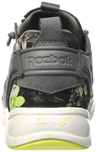 Reebok Furylite NP, Scarpe Low-Top Uomo Multicolore (Alloy/White/Solar Ye)