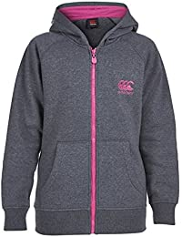 Canterbury AW14 Zip Par les Filles sweat à Capuche - Gris/Rose