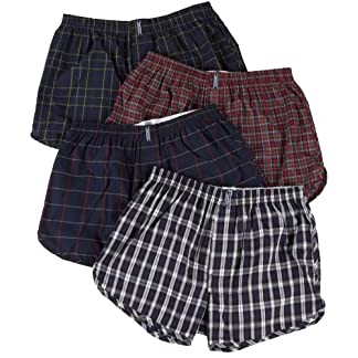 Jockey Men's Underwear Tapered Boxer – 4 Pack, tartans, L