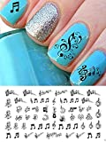 Sheet Music Notes Water Slide Nail Art Decals Set #2 - Salon Quality 5 1/2 by Moon Sugar Decals