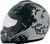 ROADSTAR Integral-Helm Revolution , Dekor Wales weiß Größe XS