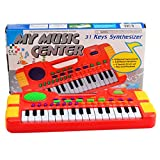 H0_V Mini Elektronisches Klavier für Kinder,31 Key Elektronisches Keyboard Klavier Musikspielzeug für Kinder - Rot