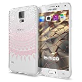 NALIA Handyhülle für Samsung Galaxy S5 S5 Neo, Designs:Mandala Pink