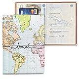 kwmobile Reisepass Kunststoff Schutzhülle - Ausweis Hülle Impfpass Schutz - Cover Reisepasshülle Ausweishülle - 3D Travel Schriftzug Design