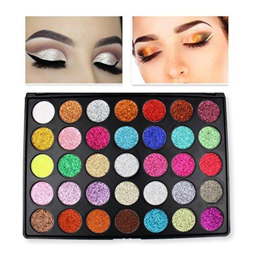 Moonuy 35 Couleurs Professionnel Matte Glitter Shimmer maquillage yeux palette de maquillage ombre à paupière Palette de Fard à Paupière Maquillage Eyeshadow Palette (A)
