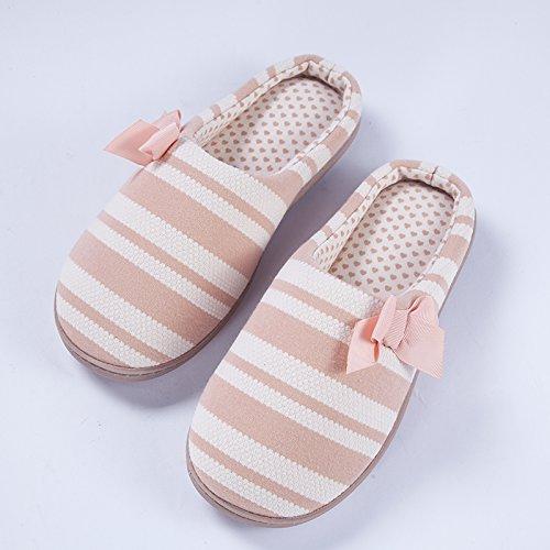 Inverno fankou cotone pantofole borsette con pavimento coperto trascina tranquillo giovane home scarpe caldo Hellrosa