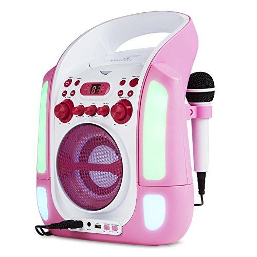 auna Kara Illumina - Equipo de Karaoke , Reproductor de CD y...