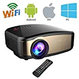 Video Beamer, VPRAWLS Wifi Full HD Video Projektor Wireless Mini Movie...