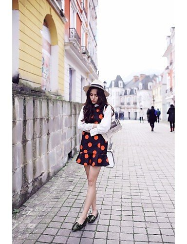 ShangYi gyht Scarpe Donna - Ballerine - Casual - Comoda / A punta - Piatto - Finta pelle - Nero / Rosa / Bianco White