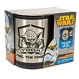 Star Wars Tasse Yoda Feel The Force Mug Selbstumrührende Kaffeetasse Becher