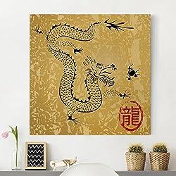 Bilderwelten Cuadro en lienzo - Chinese Dragon - Cuadrado 1:1, cuadros cuadro lienzo cuadro de lienzo cuadro sobre lienzo cuadro moderno cuadro decoracion cuadros decorativos cuadro xxl, Tamaño: 40cm x 40cm