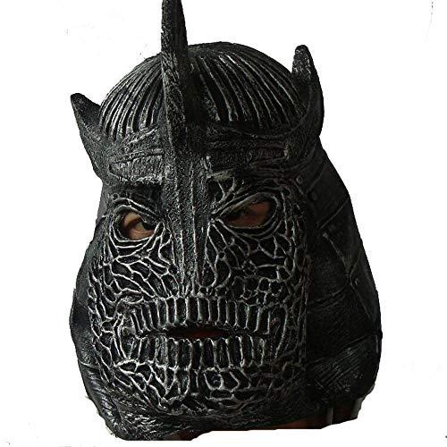 Erwachsene,Latex Eisen Teig Maske Halloween Cartoon Spiele Requisiten ()