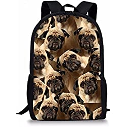 Coloranimal Mochila escolar pug-1 large